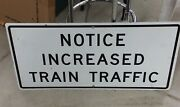 Genuine Railroad Crossing Highway Road Sign. Great For Model Rr Train Room.