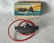 Vintage Plastic Tresco Diving Toy Submarine - New Old Stock. Never Used. Sub4