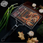 Barbecue Grilling Basket,outdoor 430 Stainless Steel Bbq Pan For Fish,beef Steak