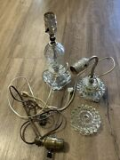 Vintage Antique Lot Of 2 Table Desk Lamps Small With Xtra Parts