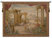 Vue Antique French Tapestry - Wall Art Hanging - Home Dandeacutecor Item - 58x76 Inch