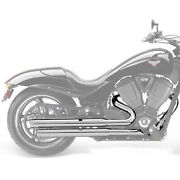 Victory Motorcycle New Oem Stage 1 Straight Exhaust Chrome Hammer + 2878304-156