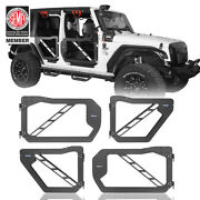 High Quality Half Doors Guards W/side View Mirror For Jeep Wrangler Jk 07-18 4dr