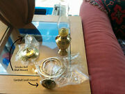 Weems And Plath 718 Atlantic Brass Gimballed Oil Lamp With Smoke Bell Nib