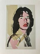 Andy Warhol Mick Jagger First Edition 1975 And039prospectusand039 Print No. 8.