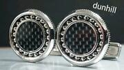 Dunhill Cufflinks Ball Bearing And Carbon Silver X Black Mens Accessories Used