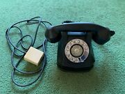 Vintage 1950and039s 50and039s Monophone Black Rotary Dial Telephone Phone