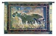 Protecting Her Cubs North American Made Woven Tapestry Wall Hanging