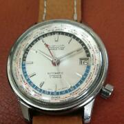 Seiko 6217-7000 World Time First Model Tokyo Olympics 1964s Antique Watch F/s