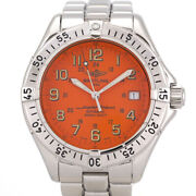 Breitling Super Ocean A17340 Orange Dial Rare Color Automatic Watch Used F/s