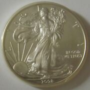 2008 American Silver Eagle Dollar - Nice Bu Condition In Kointain Capsule 105