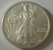 2010 American Silver Eagle Dollar - Nice Bu Condition In Kointain Capsule 117
