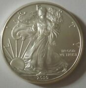 2010 American Silver Eagle Dollar - Nice Bu Condition In Kointain Capsule 119
