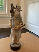 Very Rare Lladro 5046 Organ Grinder With Monkey On His Shoulder Retired