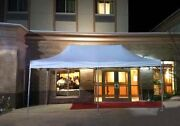 White Pop Up Canopy Tent 13x26 Instant Commercial Gazebo 5 Height Positions 50mm