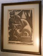 Jean Charlot Rest On The Flight Into Egypt Lithograph 1952 Signed
