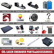 Co2 Laser Engraver Accessories - Rotary Axis Coreldraw And Lightburn Water Chiller