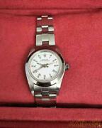 Rolex Ref.76080 Oyster Perpetual Lady White Dial Automatic Used F/s