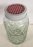 Better Homes And Gardens Diamond Quart Canning Jar 7 Tall Red Gingham Top