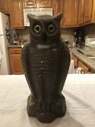 Vintage Paper Mache Halloween Double Sided Owl