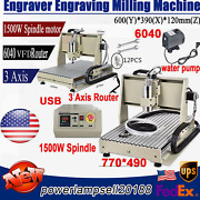 3 Axis Vfd Cnc 6040 Router Engraver Pcb Wood Engraving Milling Machine 1.5kw