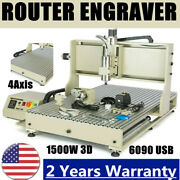 4 Axis 6090 Cnc Usb Engraver Router 1500w 3d Metal Engraving Milling Machine Usa