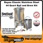 Bayou Classic 800-144 Stainless Steel Boil And Brew Kit With Basket Lid Etc