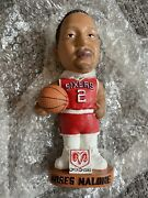 Nib Nba 76ers Moses Malone Bobblehead Doll W/authentication Card And Certificate