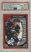 2019 2020 Jack Eichel 10/10 Psa 8 Dna 10 Auto Buybacks 2015 Opc Red Rc Rookie