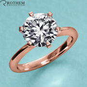 1.00 Ct Solitaire Diamond Engagement Ring Rose Gold I2 Msrp 8800 23051115