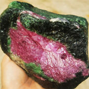 2053g Museum Natural Red Ruby In Green Zoisite Crystal Gem Specimen F3129