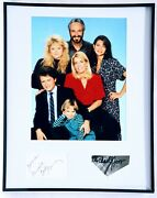 Family Ties Signed Framed 16x20 Photo Display Jsa Meredith Baxter Michael Gross