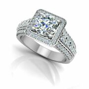1.59 Ct Round Brilliant Diamond Engagement Rings Solid 14k White Gold Size 5 6 7