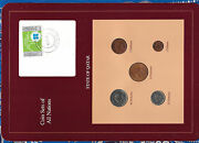 Coin Sets Of All Nations Qatar W/card 1973 - 1987 Unc 25 50 Dirhams 1987