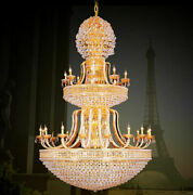European Court Style Villa Stairs K9 Crystal Ceiling Lamps Led Chandeliers Light