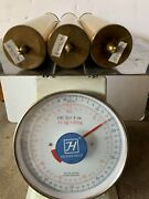 Set Of 3 Antique /vintage Grandfather Clock Weight Shells