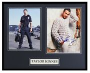 Taylor Kinney Signed Framed 16x20 Photo Display Chicago Fire