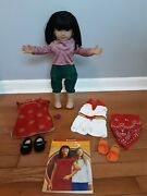 American Girl Doll Ivy Asian Lot Meet Outfit Chinese New Yearand039s Romper Book