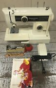 Kenmore Sears Roebuck 10 Stitch Sewing Machine 385.1249380 Tested Working Extras
