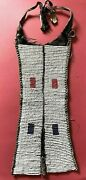 Very Good Antique Late 19th/early 20thc African Beaded And Hide Breastplate