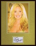 Michelle Mclaughlin Sexy Signed Framed 11x14 Photo Display