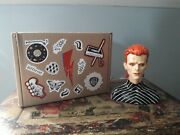 David Bowie Ziggy Stardust Ceramic Bust Perfect Condition Boxed Figure Figurine