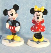 Disney Mickey And Minnie Mouse Figurines Schmid