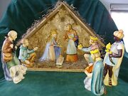 1951 Goebel 8 Piece Nativity Set With Crèche- Perfect Condition