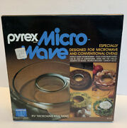 Vintage Pyrex 8 5/8 Microwave Ring Mold M-22 New Sealed Package Nos