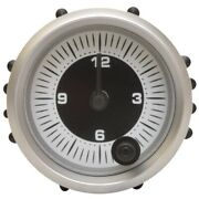 Faria Boat Analog Clock Gauge Cl1051a   2 Inch Silver White Black