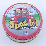Spot It On The Road By Blue Orange - 6 Quick Party Card Games In A Tin Euc