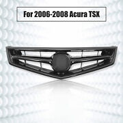 For 2006 07 08 Acura Tsx 4-door 4dr Front Grill Grille All Black Without Emblem