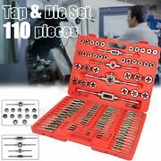 110 Pc Metric Tap And Die Kit M2-m18 Mm For Create New / Repair Damaged Thread