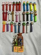 Vtg Lot Of 29 Pez Dispensers Santa Star Wars Wile E Coyote And More